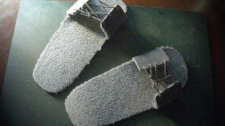 カーペットのハギレで作るスリッパ